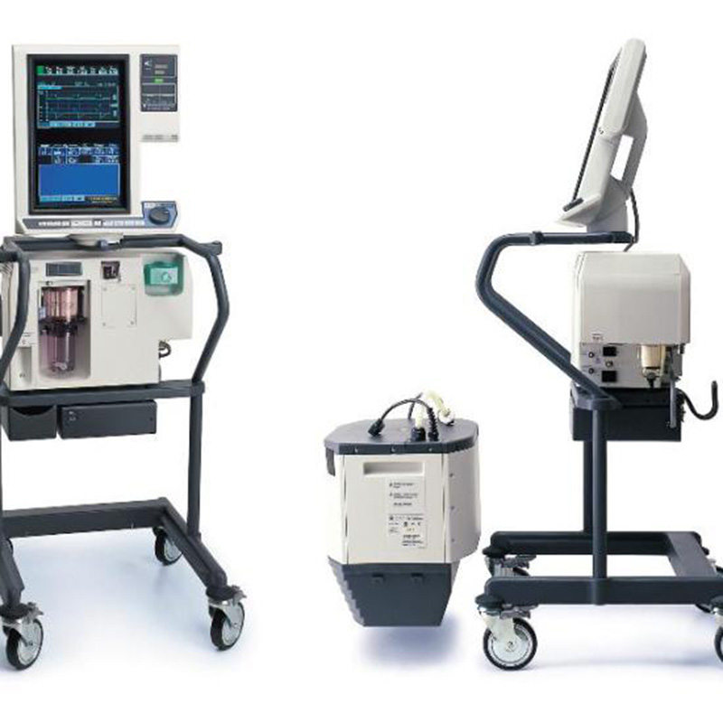 How does an ICU ventilator with the monitor function?